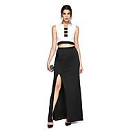 ts couture® prom formelle aftenkjole - to stykker kappe / kolonne hak gulvlang trøje med split foran