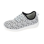 Women's Sneakers Fashion Tulle Shoes Running Shoes Lace-up Black / Pink / White Walking Breathable EU36-39