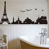 ארכיטקטורה / אופנה / נוף מדבקות קיר מדבקות קיר מטוס מדבקות קיר דקורטיביות,PVC חוֹמֶר ניתן להסרה קישוט הבית מדבקות קיר