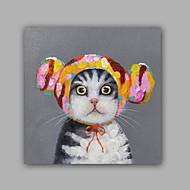 Pintados à mão Abstracto / Animal Pinturas a óleo,Modern / Clássico 1 Painel Tela Hang-painted pintura a óleo For Decoração para casa