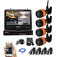 Yanse® 4ch sans fil 1.0mp appareil photo ip nvr kit 720p hdmi p2p wifi ir appareil photo ip66 système de sécurité à domicile imperméable à l'eau