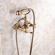 Antique / Art Deco/Retro / Modern Wall Mounted Rain Shower / Widespread / Pre Rinse with  Ceramic Valve Single Handle Three Holes for  faucet