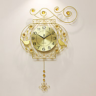 Modern/Contemporary Houses Wall ClockOthers Acrylic / Aluminum / Metal 52*75cm Indoor Clock