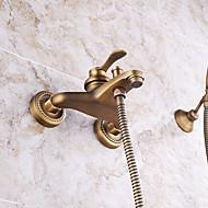 koupelna nástěnná starožitný mosaz vana baterie s ruční sprchou set