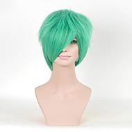 новые короткие вьющиеся зеленый цвет косплей синтетические парики для женщин