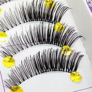 Cílios Pestana Tiras Completas de Cílios Olhos Grossa Pestanas Levantadas Confeccionada à Mão Fibra Transparent Band 0.10mm 12mm