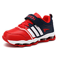 Boy's Sneakers Spring Summer Fall Winter Comfort Leatherette Casual Athletic Flat Heel Lace-up Red Royal Blue Walking