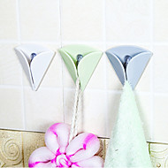 fácil de instalar impulso de borracha titular toalha de chá pano almofada de borracha suporte de toalha de sucção no gancho cor aleatória
