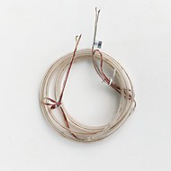 z®zdm 1m opláštění nepromokavé 0603 60pcs 4.5w teplá bílá vedl měkký lampy pruh (DC12V)