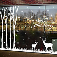 עצים\עלים מודרני מדבקה לחלון,PVC/Vinyl חוֹמֶר קישוט חלון