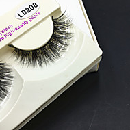 Full Strip Lashes Eyes Thick Handmade mink hair eyelash Black Band 0.10mm 12mm LD208