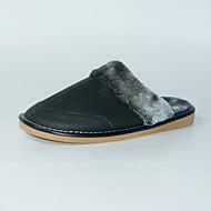 M.livelihood.H Men's Slippers & Flip-Flops Winter Slingback Cowhide Casual Flat Heel Others Black Others-TY201610