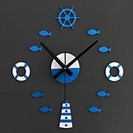 מודרני / עכשווי בעלי חיים / חופשה / מעורר השראה / משפחה / סרט מצויר שעון קיר,עגול / מצחיק אקרילי / זכוכית (30-60)cm(12-24)in בבית/ בטבע