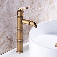 håndvasken vandhane med antik messing overflade-bambus form design