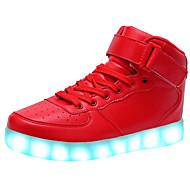יוניסקס-נעלי ספורט-עור-נוחות להאיר נעליים-שחור אדום לבן-שטח יומיומי ספורט-עקב נמוך