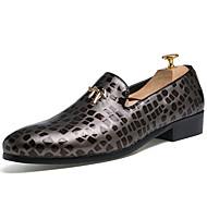 Kényelmes-Lapos-Női cipő-Papucsok & Balerinacipők-Alkalmi-Bőr-Fekete Szürke Vörös