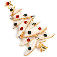 מתנת חג מולד קוריאני בדרגה גבוהה יהלום גברת אבזרי צווארון סיכת עץ סיכת חג המולד