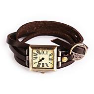Vintage Watch Women Rome Digital Montre Femme Multilayer Bracelet Watch Leather Geneva Watch Women Quartz Wristwatch