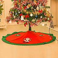 natal decorações para 90 centímetros casa borda reta não-tecidos saia da árvore de Natal aventais