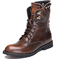 Men's Boots Spring / Fall / Winter Cowboy / Western Boots / Combat Boots Nappa Leather Outdoor / Casual Black / Brown