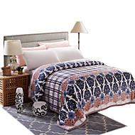 Mink Cashmere Blanket Thickened Flannel Blanket Thicker Winter Sheets  Bedding Set