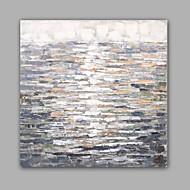 מצויר ביד מופשט / L ו-scape ציורי שמן,קלאסי / מודרני פנל אחד בד ציור שמן צבוע-Hang For קישוט הבית