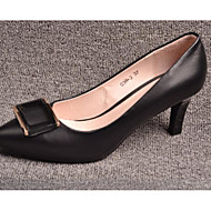Women's Heels Spring / Summer Slingback Leather Casual Stiletto Heel Others Black Walking