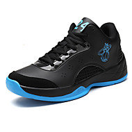 Men's Basketball Shoes Casual Athletic Sports Shoes Flat Heel Lace-up Black / Black and Red / Black and White EU39-44