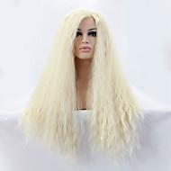 Ženy Dlouhý Bleach Blonde Rovné yaki Přírodní vlasová linie Boční část Umělé vlasy Se síťovanou přední částí Přírodní paruka Paruka