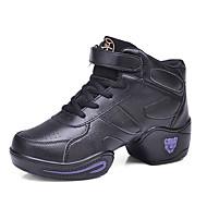Na míru-Dámské-Taneční boty-Taneční tenisky-Kůže-Kačenka-Černá / Bílá