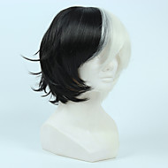 Master wild dog wild field for a long time this black semi - white face anti - Alice cosplay animation wig