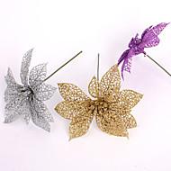 偽の人工プラスチッククリスマスの装飾の15センチメートルはクリスマスの花クリスマスの花の装飾のペンダント6colorsをくりぬきます