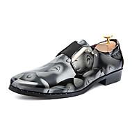 Men's Sneakers Spring Fall Comfort Fur Casual Flat Heel Metallic toe Silver Gold Burgundy Other