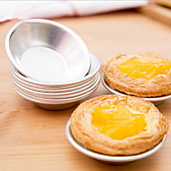 6pcs Aluminum Cupcake Cookie Pudding Egg Tart Mold Mould Makers Cake Die Baking Tools