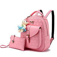 M.Plus Women Fashion Korean Style PU/Faux Leather Backpack