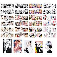12 designs ,12 different images Стикер искусства ногтя Вода Передача Переводные картинки макияж Косметические Nail Art Design