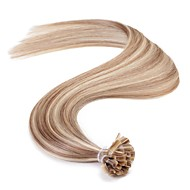 neitsi 16 '' 25g Remy hiusten pidennykset suora ennalta liimata u kynsien kärki hiukset aaaaa laatu p14 / 24 #