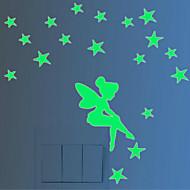 כריסטמס / אנימציה / אנשים מדבקות קיר מדבקות קיר תלת מימד / מדבקות קיר זוהרות מדבקות קיר דקורטיביות / מדבקות למתג האור,pvc חוֹמֶרניתן