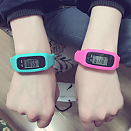 Men's / Women's / Kids' / Couple's Sport Watch Digital LED / Pedometer Silicone Band Casual Black / White / Red / Purple / Khaki / Ivory
