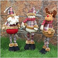 figuras de natal 1pc aleatória dobrável venda quente decoração do Natal de Papai Noel boneco de neve