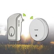batteri-fri selv-drevne trådløs fjernbetjening dørklokken med over 48 klokkespil-hvid