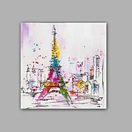 Kézzel festett Absztrakt / Landscape Festmények,Klasszikus / Modern Egy elem Vászon Hang festett olajfestmény For lakberendezési