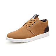 Men's Sneakers Spring Fall Comfort Leatherette Casual Flat Heel Lace-up Brown Gray Navy