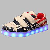 לבנים-נעלי ספורט-PU-נוחות להאיר נעליים-כחול ורוד אדום-שטח יומיומי ספורט-עקב שטוח