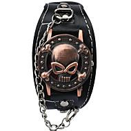 Muškarci Modni sat Narukvica Pogledajte Ručni satovi s mehanizmom za navijanje Kvarc Hollow graviranje Punk Legura GrupaVintage Crtani