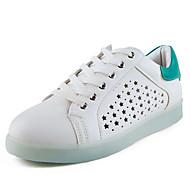 Feminino-Tênis-Sapatos de Berço / Tira no Tornozelo / Conforto-Rasteiro-Branco-Couro Ecológico-Casual / Para Esporte