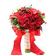 Svatební kytice Kulatý Růže Kytice Svatba Párty / večerní akce Polyester Satén Taft Krajka elastan Korálkový sušené květiny20 cm (cca