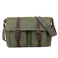 New Men Canvas Leather Casual Messenger Shoulder Bag Tablet PC School Bag