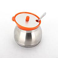 laranja 300ml garrafa aromatizante 304 vidro de aço inoxidável