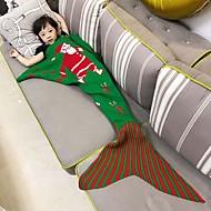 lůžkoviny sofa mořská panna deka pletení ryby vánoční malé ocas přikrývky teplé spící dítě Santa Claus